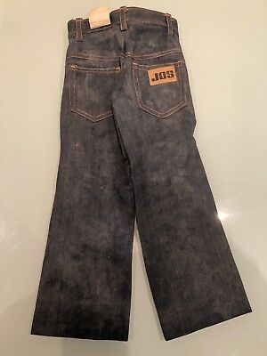 Vintage 60s 70s Retro Childs Kids Jeans Trouser Flares Unisex Shop Display