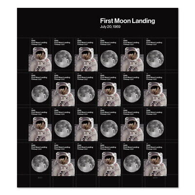 US 1969 First Moon Landing24 Pane of 20 Available After August 1 2019