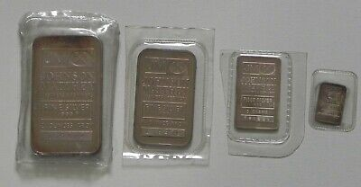 Wow/Rare  4 Johnson Matthey Sealed Solid Silver Bars