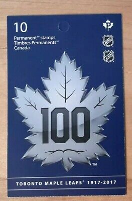 100 Anniversary Of Toronto Maple Leafs Book Of 10 Permanent Stamps Canada 2017