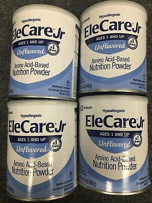 4 EleCare JR Unflavored Powder Junior Formula FREE FAST PRIORITY SHIPPING! AIYV