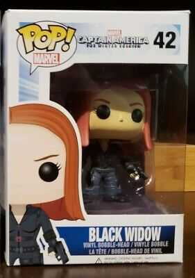 Captain America The Winter Soldier Black Widow #42 Funko Pop Real Not China Fake