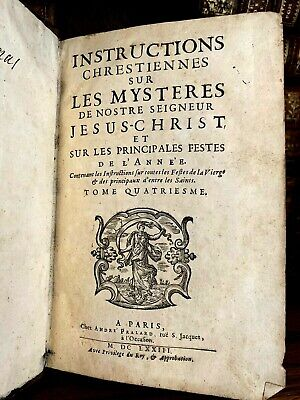 1673 Christian Instructions On The Mysteries Of Our Lord Jesus Christ
