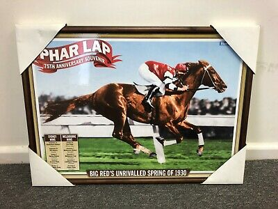 Melbourne Cup framed poster PHAR LAP poster 75th Anniversary 2007 MELBOURNE cup