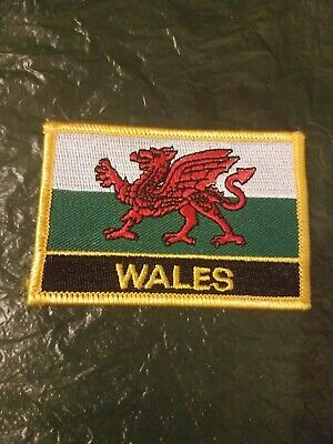 PROUD WELSH BIKER embroidered PATCH WALES FLAG new UK iron-on CYMRU BADGE