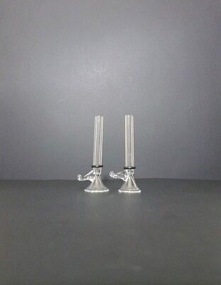 """2 glass bowl 3"""" thick slide  for bong water pipe  Clear"""