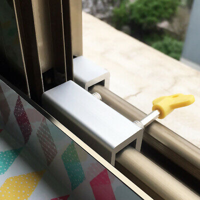 Adjustable Sliding Window Locks Child Baby Safety  Locks Stop Window GIF