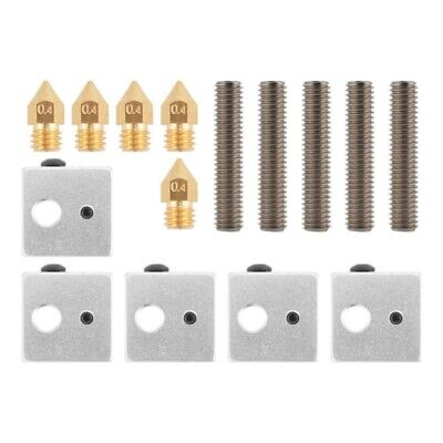 Extruder Nozzle Heater Block for MK8 Makerbot 3D Printer Throat Tube Brass AU