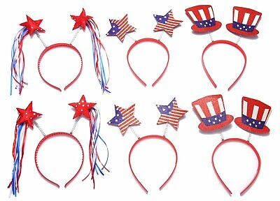 Moon Boat Patriotic Head Boppers Headband - Star/Uncle Sam Hat- Fourth/4Th Of Ju