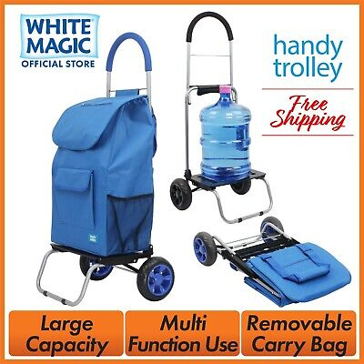 White Magic Foldable Cart Shopping Handy Dolly Trolley - 4 Colour Options