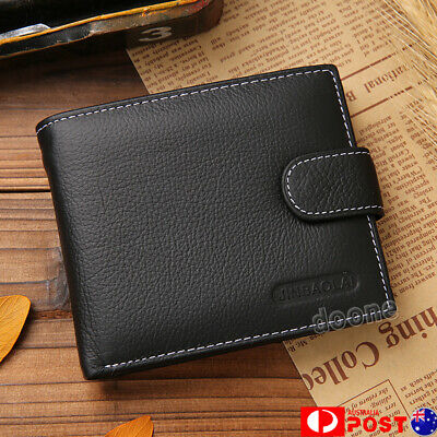 2019 Men's Leather Money Clip Slim Wallet ID Credit Card Holder Coin Purse HOT!!