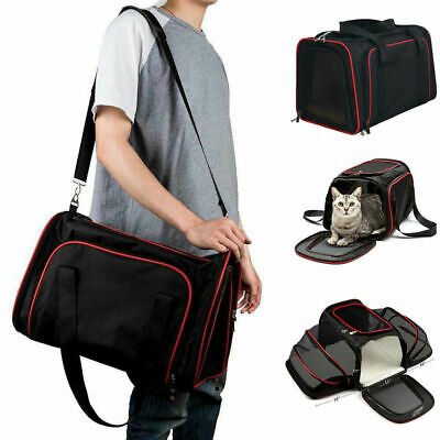 Pet Carrier Soft Sided Small Cat / Dog Comfort Sapphire Mesh Bag Travel Approved