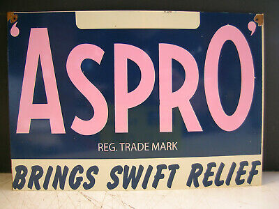 ASPRO brings swift relief RUSTIC TIN SIGN  FREEPOSTAGE AUSTRALIA WIDE