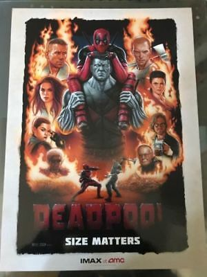 Mini Movie Poster DEADPOOL AMC IMAX Exclusive