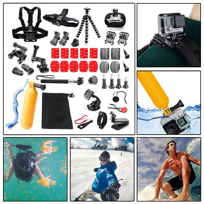 42PC Action Camera Accessories For GoPro Hero Video Cam Strap Mount Tripod Set
