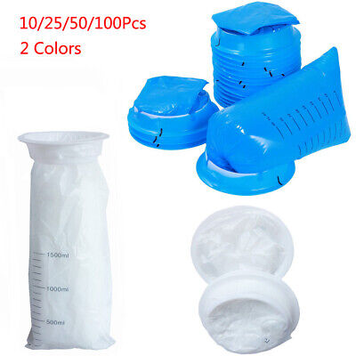 Disposable Sick Bags Vomit Bags Emesis Calibrated Infection Control Secure Seal