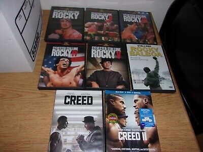 ENTIRE Rocky COLLECTION (8 DVD 1 BLU RAY ) CREED 1 2 ROCKY 1 2 3 4 5 6