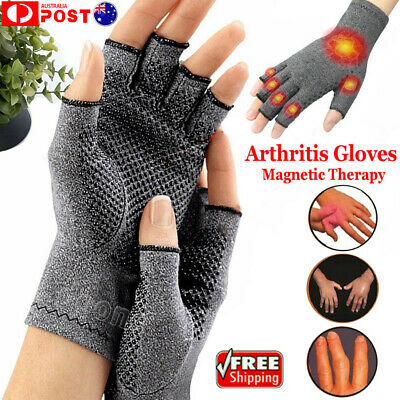 Hand Compression Brace Finger Joint Pain Relief Wrist Support Arthritis Gloves