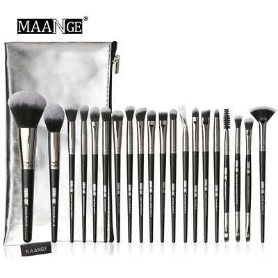 5-20Pcs Makeup Brushes Set Powder Eyeshadow Make Up Brush With Portable PU Case