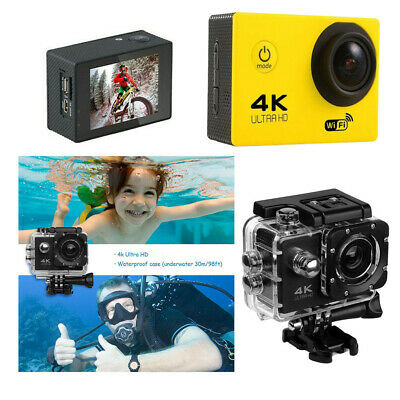 Ultra 4K Full HD Wi-Fi Action Camcorder as Go Pro 1080P Waterproof Sports Camera