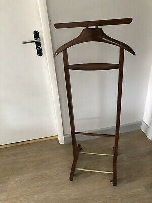 1950s Butler Stand Valet Coat Jacket Vintage Retro French Wood Wooden Hanger
