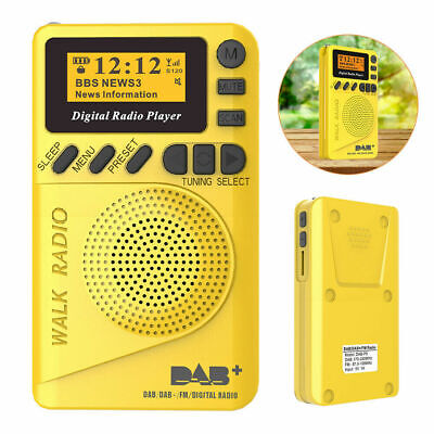 Small Portable Mini Pocket DAB/DAB+ Digital Radio With MP3 Player FM radio UK