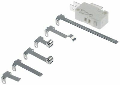 Microswitch With Plunger 250V 16A 1Co Connection Male Faston 6.3Mm L1 27,8Mm