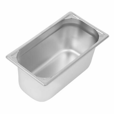 Vogue Heavy Duty Stainless Steel 1/3 Gastronorm Pan 150mm [DW444]