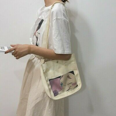 Novel Canvas Womens Crossbody Bag Harajuku Style Fashion Print Shoulder Bag