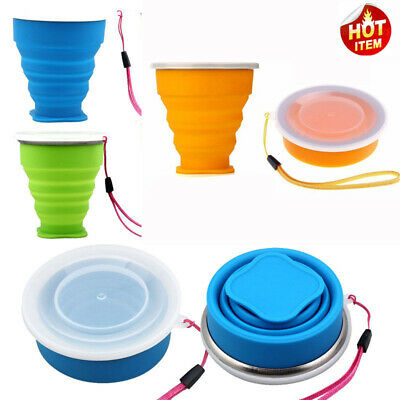 Portable Silicone Retractable Folding Cup Telescopic Collapsible Travel camp New