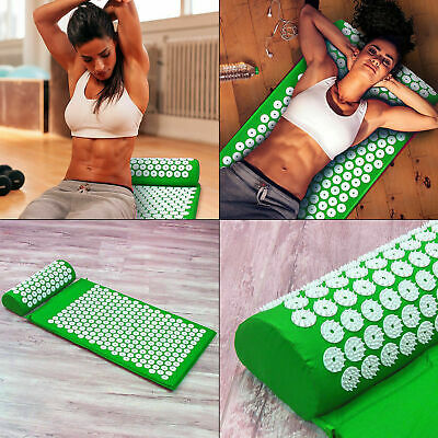 Acupressure Massage Mat+Pillow+Strap for Stress/Pain/Tension Relief Body relaxAU