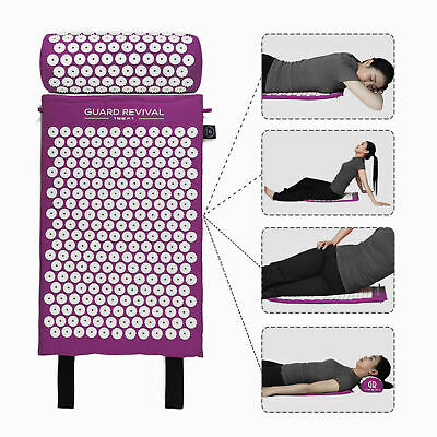 Guard Revival Acupressure Massage Mat with Pillow Stress/Pain/Tension Relief AU