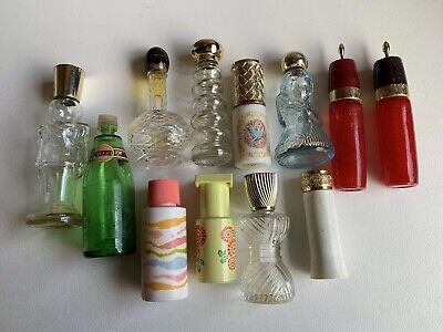 Lot Of 12 Vintage Avon Bottles. Includes Angel And Toy Soldier Plus Asstd. Used.