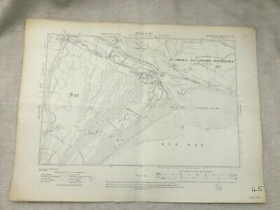 1910 Antique Map of East Sussex Camber Sands Rye Bay The Nook Old