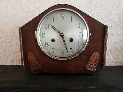 Great Looking Antique Haller Mantel Clock With Key And Pendulum