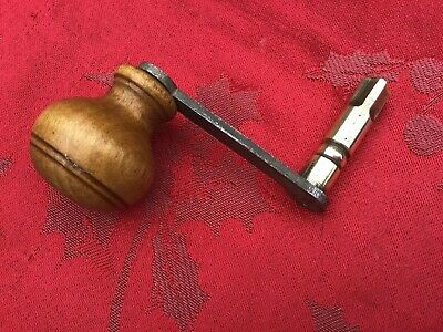 Grandfather Longcase Named Pioneer  Clock Key Turned  Wood Handle 5.25mm Sz12