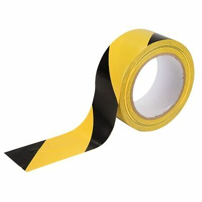 Hazard Warning Tape 50mm x 10m Black and Yellow Pvc Roll Safety Caution Adhesive