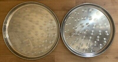 2 x XL Deep Round Serving Baking Oven Dishes Tray | 45cm & 50cm | Bargain Price!
