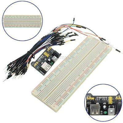 Solderless Prototype PCB Breadboard with 65pcs Jumper Leads Wires + POWER MODULE