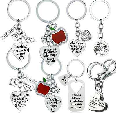 Lovely Heart Charm Keychain Silver Pendant Keyring Key Ring Gift Jewelry Chain