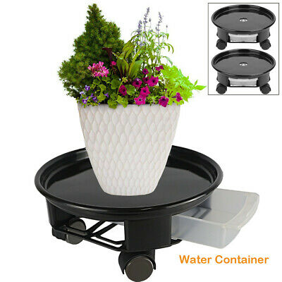 11.4/11.8in Round 2PCS Plant Dolly w/ Wheels Flower Plant Caddy Water Container