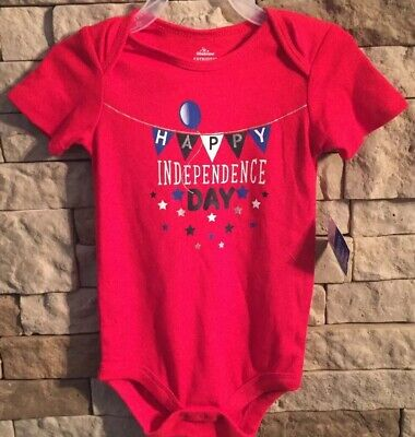 Newborn 4th of July Happy Independence Day Bodysuit Boys Girls ~ 3-6 Months ~New