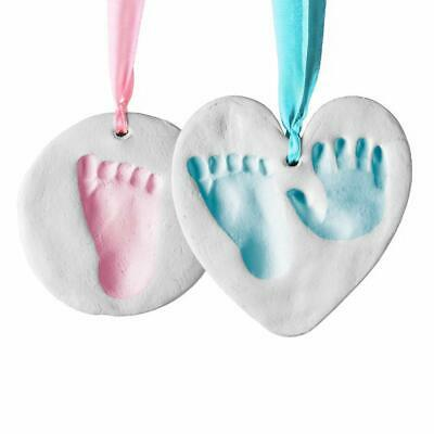 Baby Handprint & Footprint Clay Ornament Kit for Newborns & Infants,Personalized