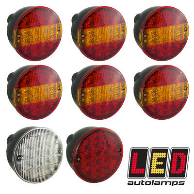 LED AUTOLAMPS HBL140 12v 24v LED Hamburger STOP TAIL INDICATOR FOG REVERSE Light