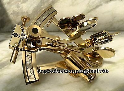 Kelvin Shiny Brass Sextant Handmade London Navigation Desk Sextant Decorative