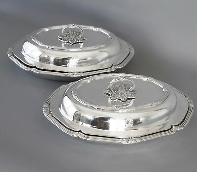 A Superb Pair of Victorian Silver Entree Dishes, London 1896