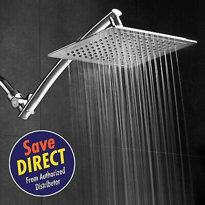Razor Mega Size 9-inch Chrome Face Rainfall Shower with 15-inch Extension Arm (S