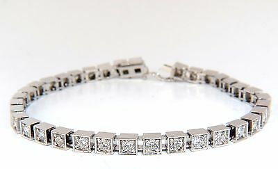 Antique Style Natural Diamond Tennis Bracelet 2.90ct. G/Vs 14kt+