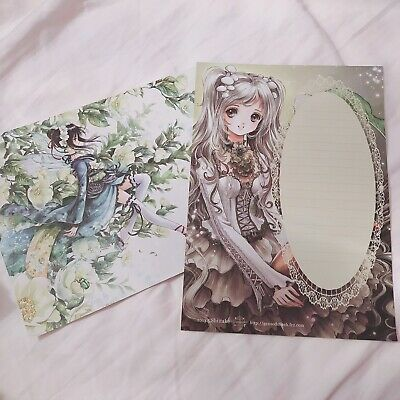 Kawaii Note Paper Stationery Poster Cute Girl Harajuku Anime Lolita Sweet Gothic