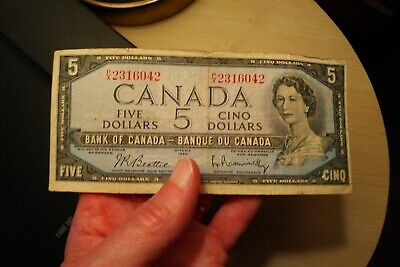 1954 $5 Dollar Bank of Canada Banknote PX2316042